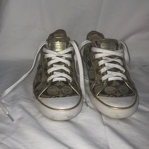 Coach gold sneakers